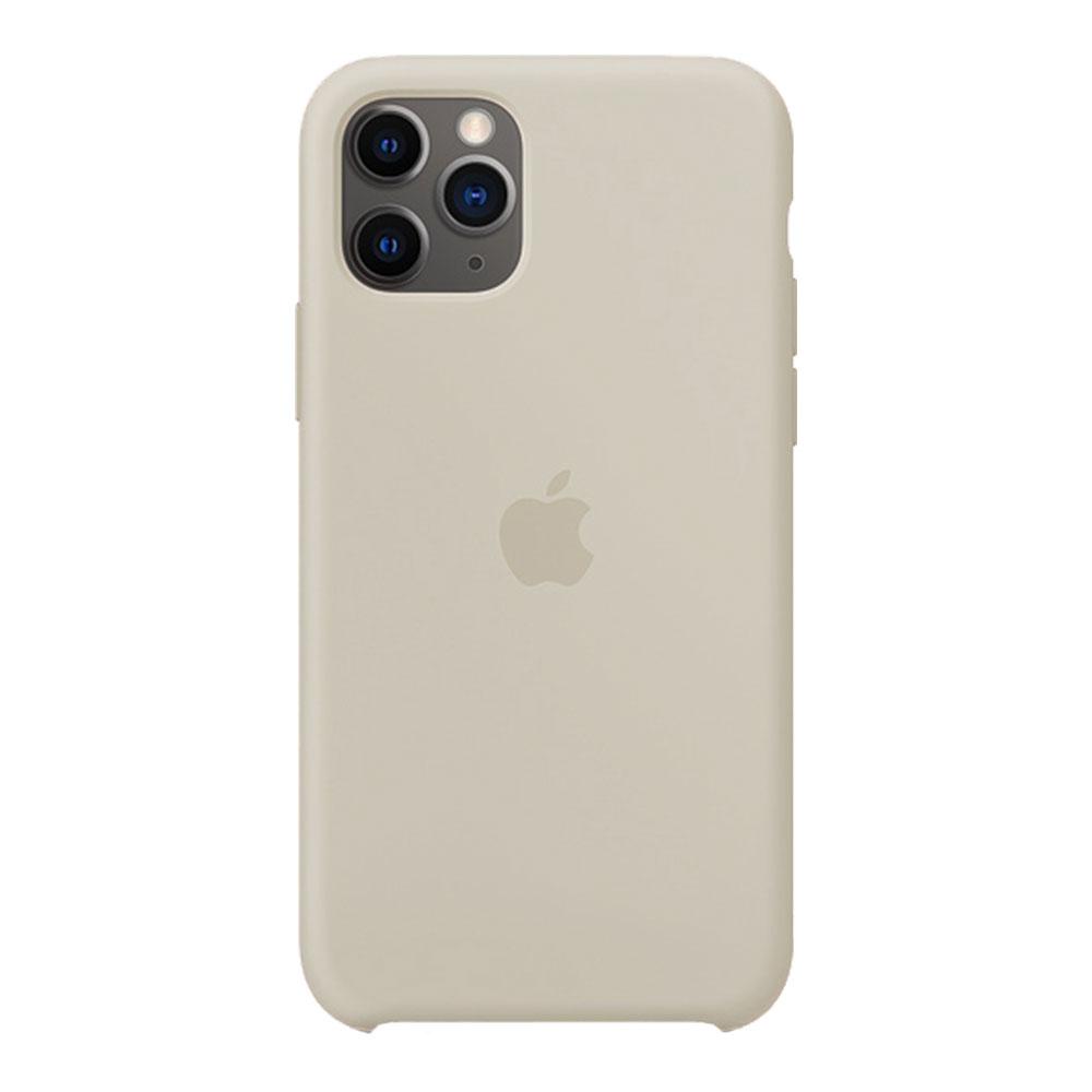 Силиконовый чехол для iPhone 11 Pro Max, бежевый