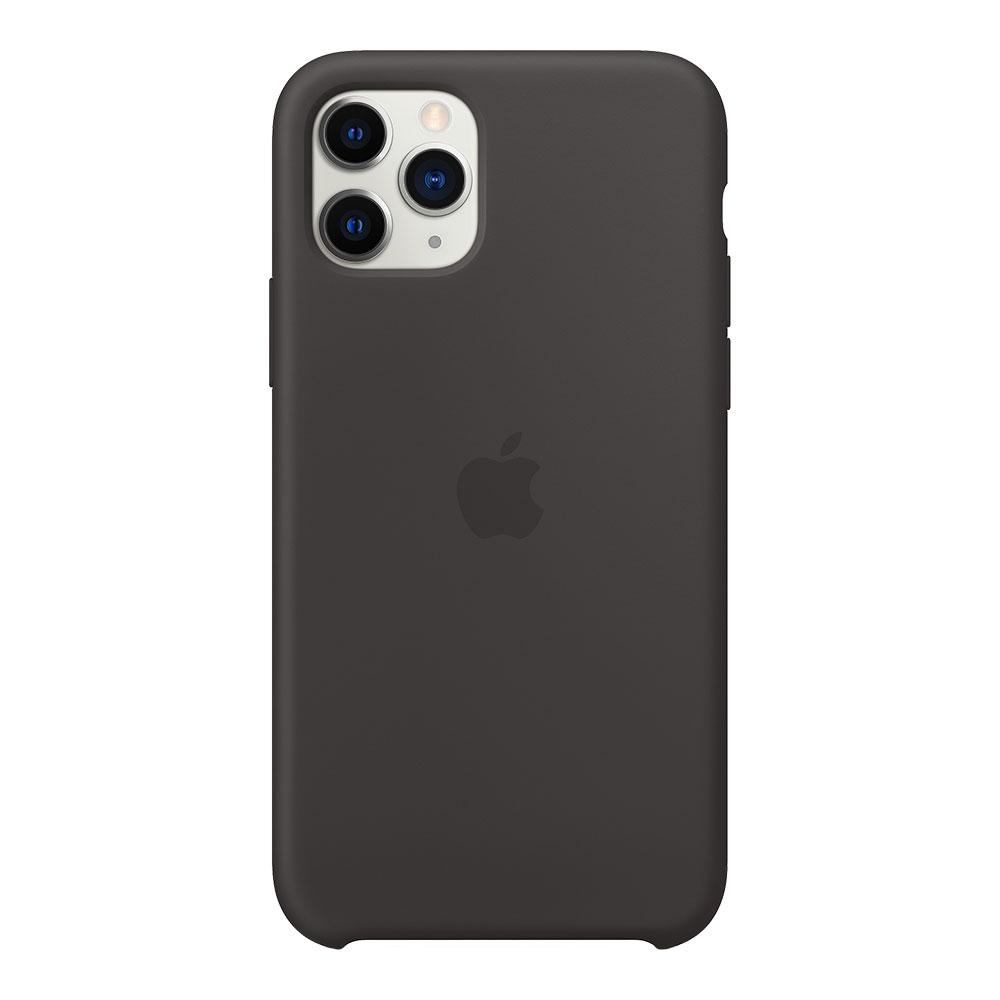 Силиконовый чехол для iPhone 11 Pro, чёрный
