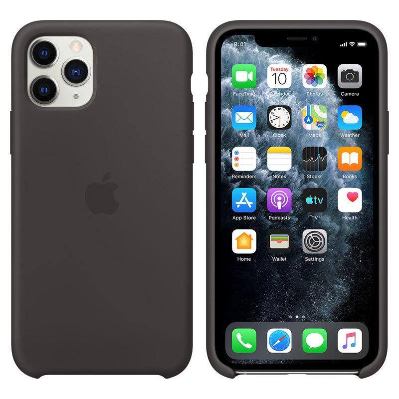 Силиконовый чехол для iPhone 11 Pro Max, чёрный