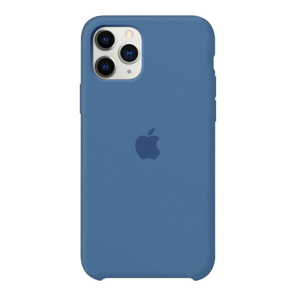 Силиконовый чехол для iPhone 11 Pro, синий деним