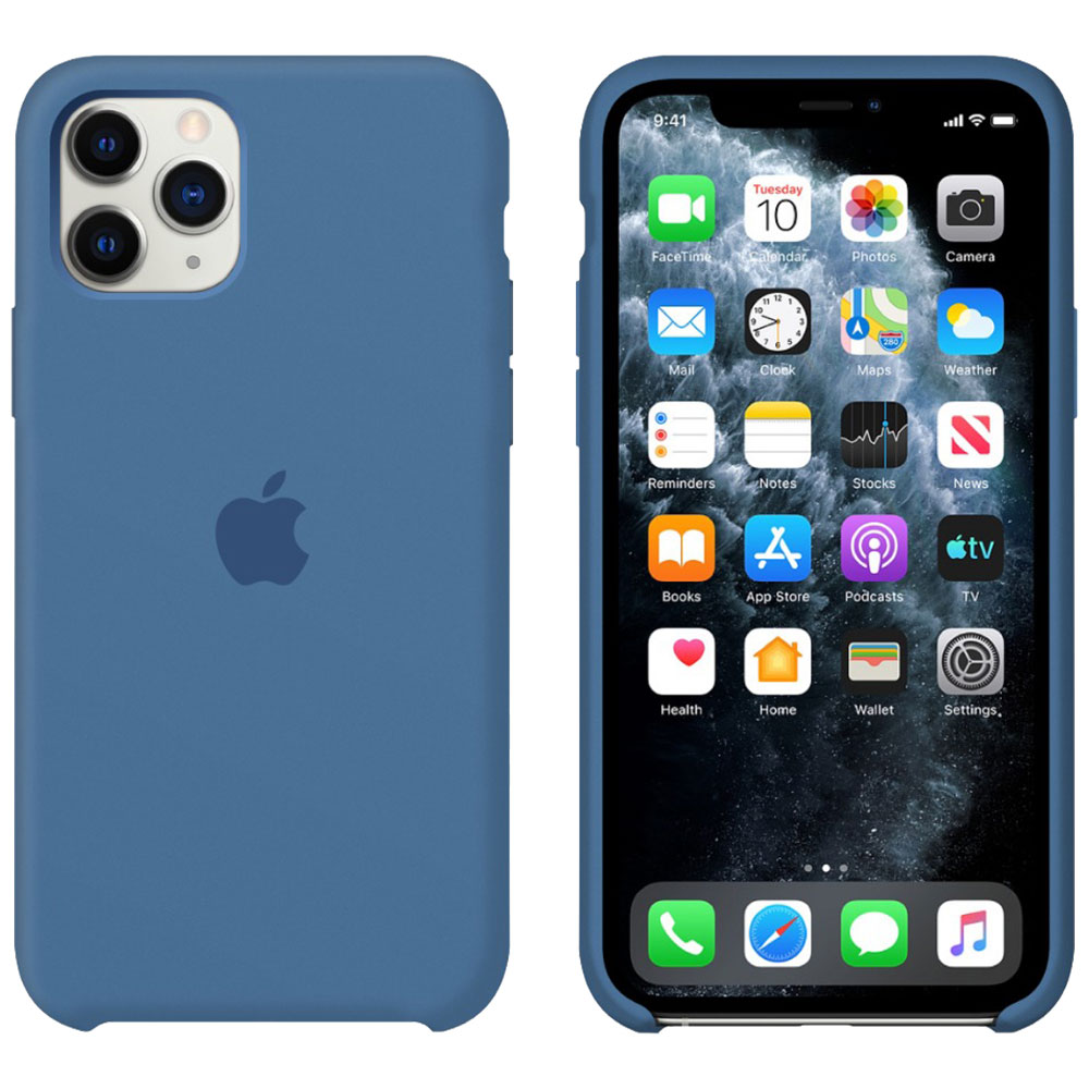 Силиконовый чехол для iPhone 11 Pro Max, синий деним
