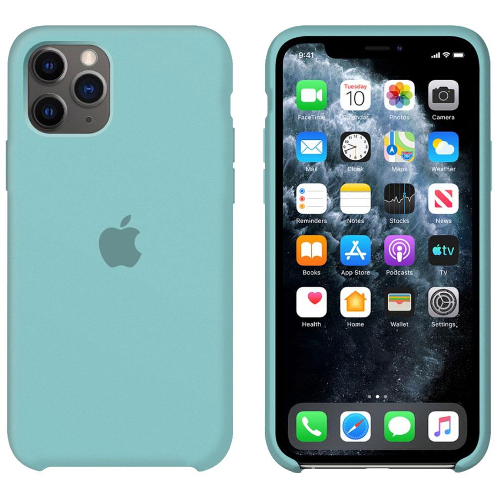 Силиконовый чехол для iPhone 11 Pro Max, мятный