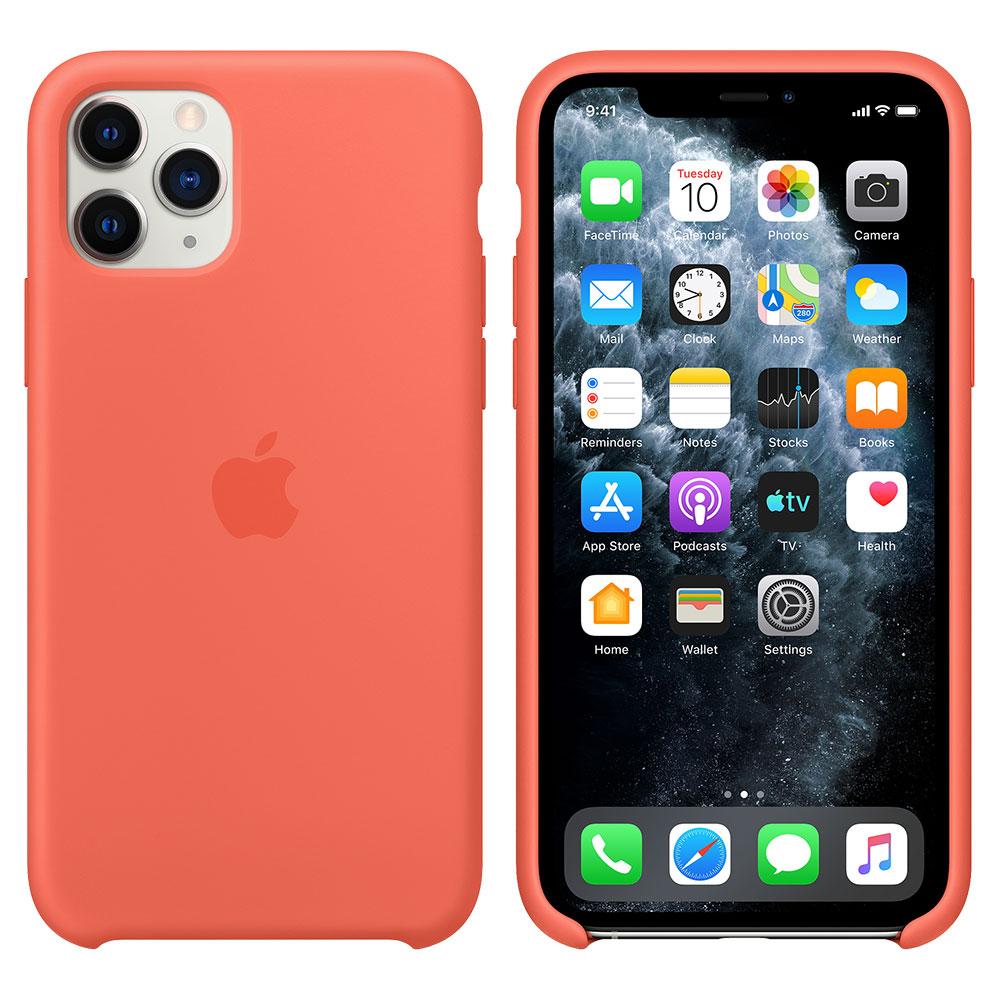 Силиконовый чехол для iPhone 11 Pro, оранжевый