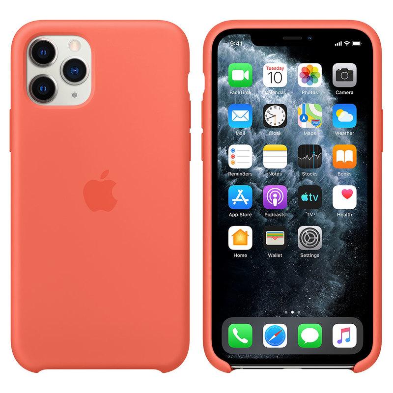 Силиконовый чехол для iPhone 11 Pro Max, оранжевый