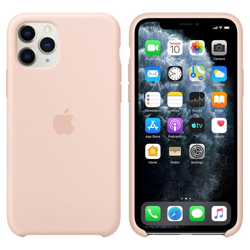 Силиконовый чехол для iPhone 11 Pro, розовый песок