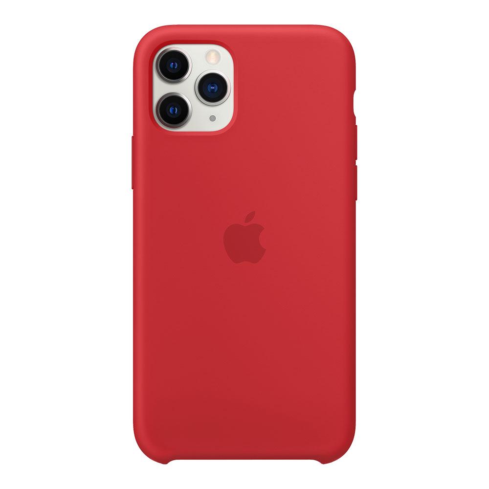 Силиконовый чехол для iPhone 11 Pro, красный