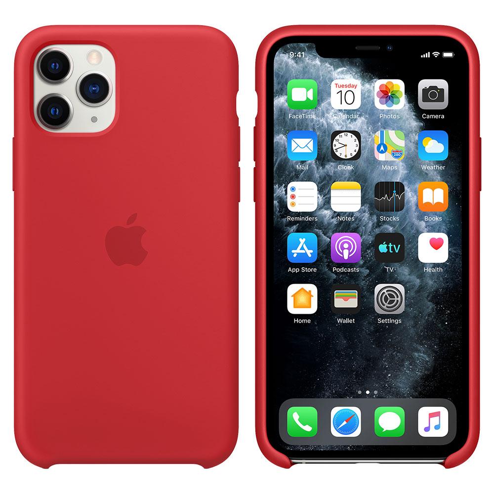 Силиконовый чехол для iPhone 11 Pro Max, красный