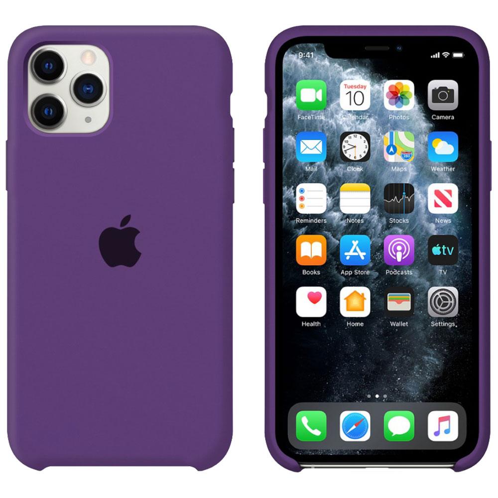 Силиконовый чехол для iPhone 11 Pro, фиолетовый