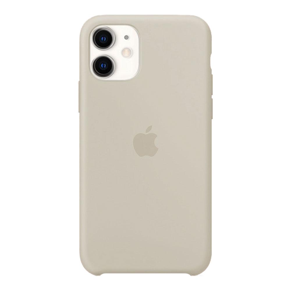 Силиконовый чехол для iPhone 11, бежевый
