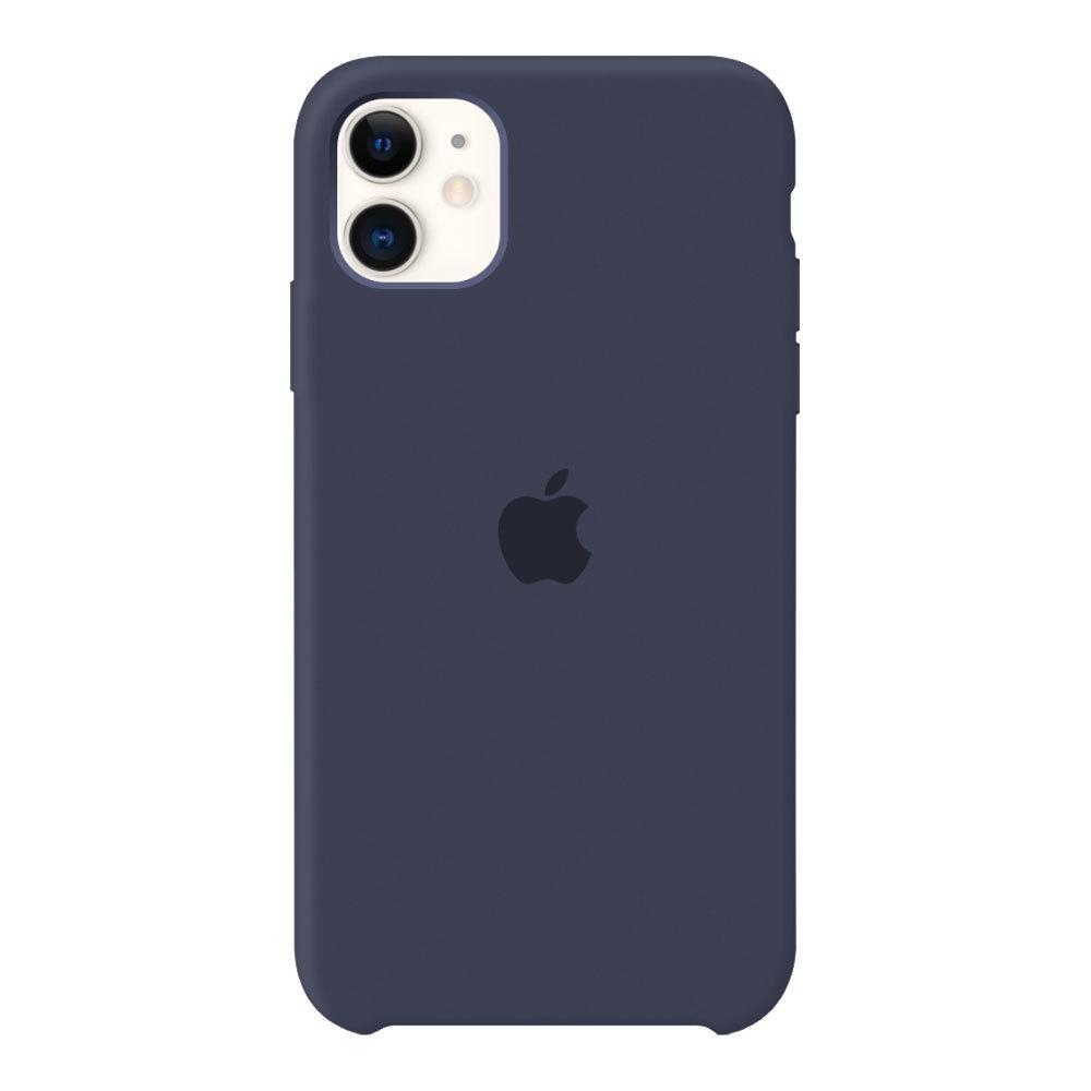 Силиконовый чехол для iPhone 11, тёмно-синий