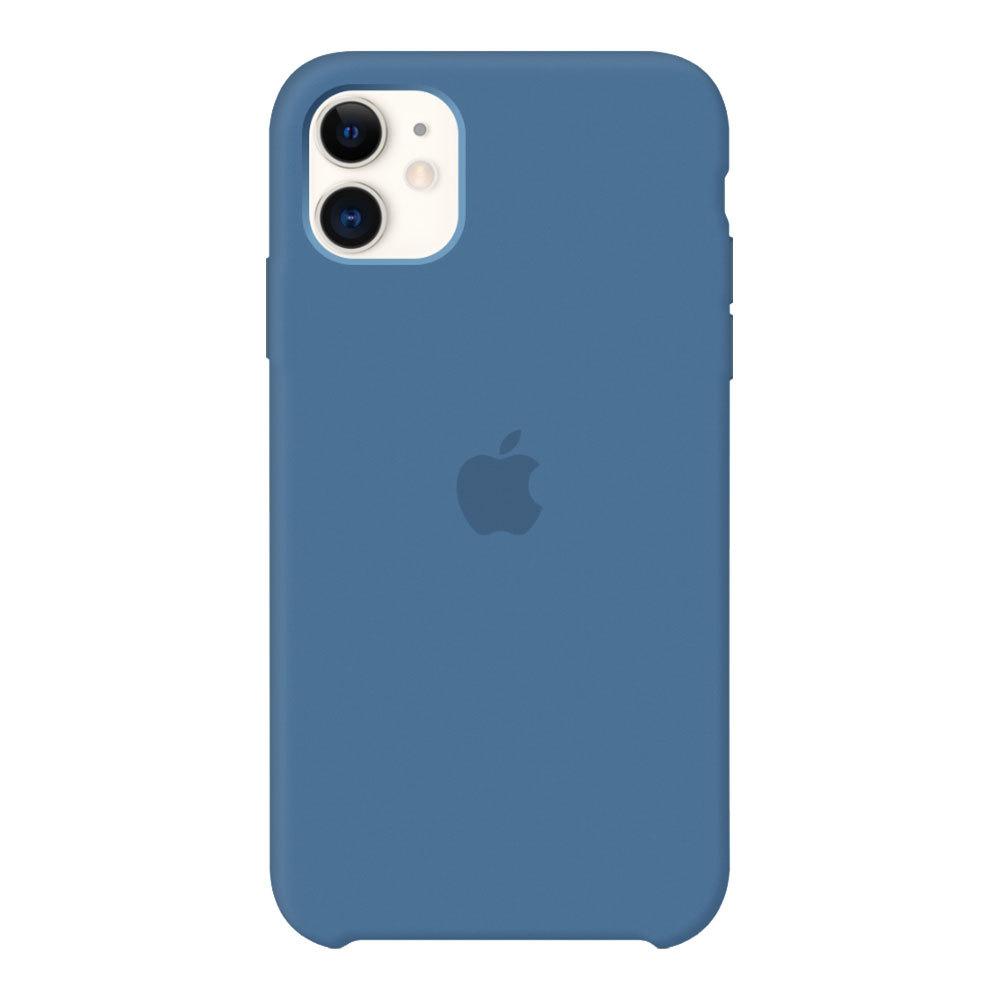 Силиконовый чехол для iPhone 11, синий деним