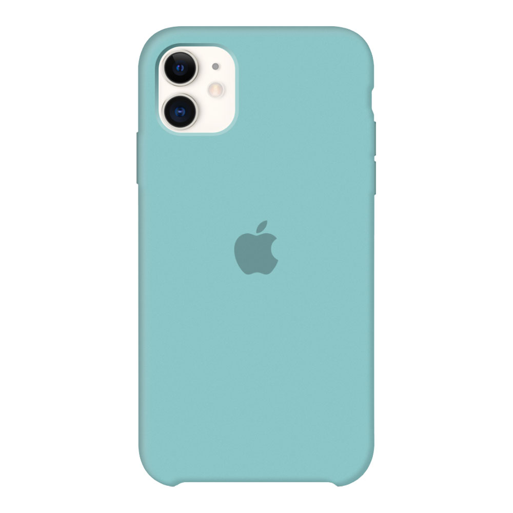 Силиконовый чехол для iPhone 11, мятный