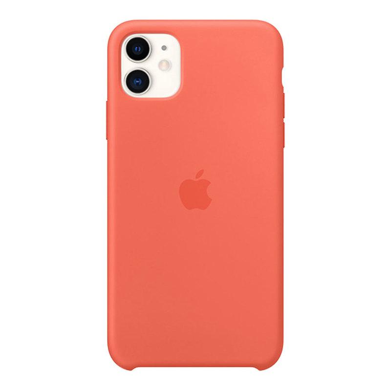 Силиконовый чехол для iPhone 11, оранжевый