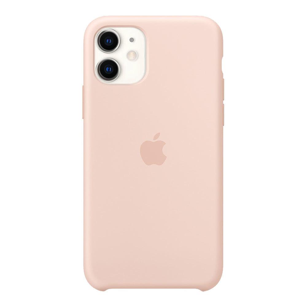 Силиконовый чехол для iPhone 11, розовый песок
