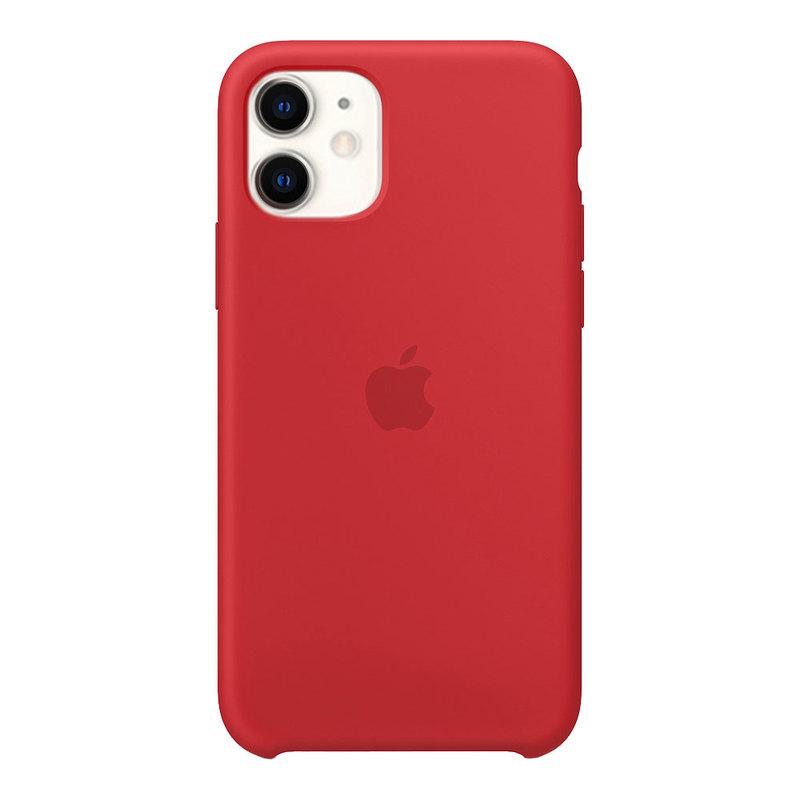 Силиконовый чехол для iPhone 11, красный