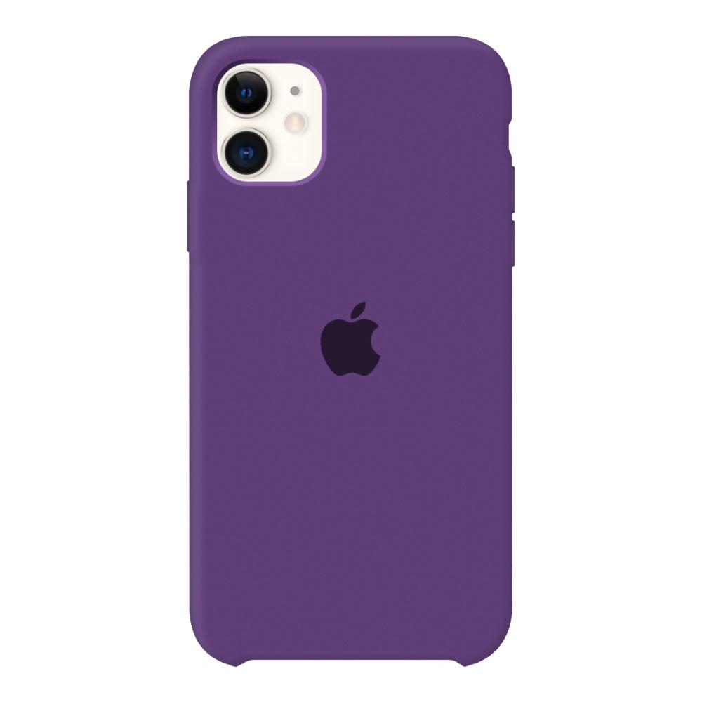 Силиконовый чехол для iPhone 11, фиолетовый