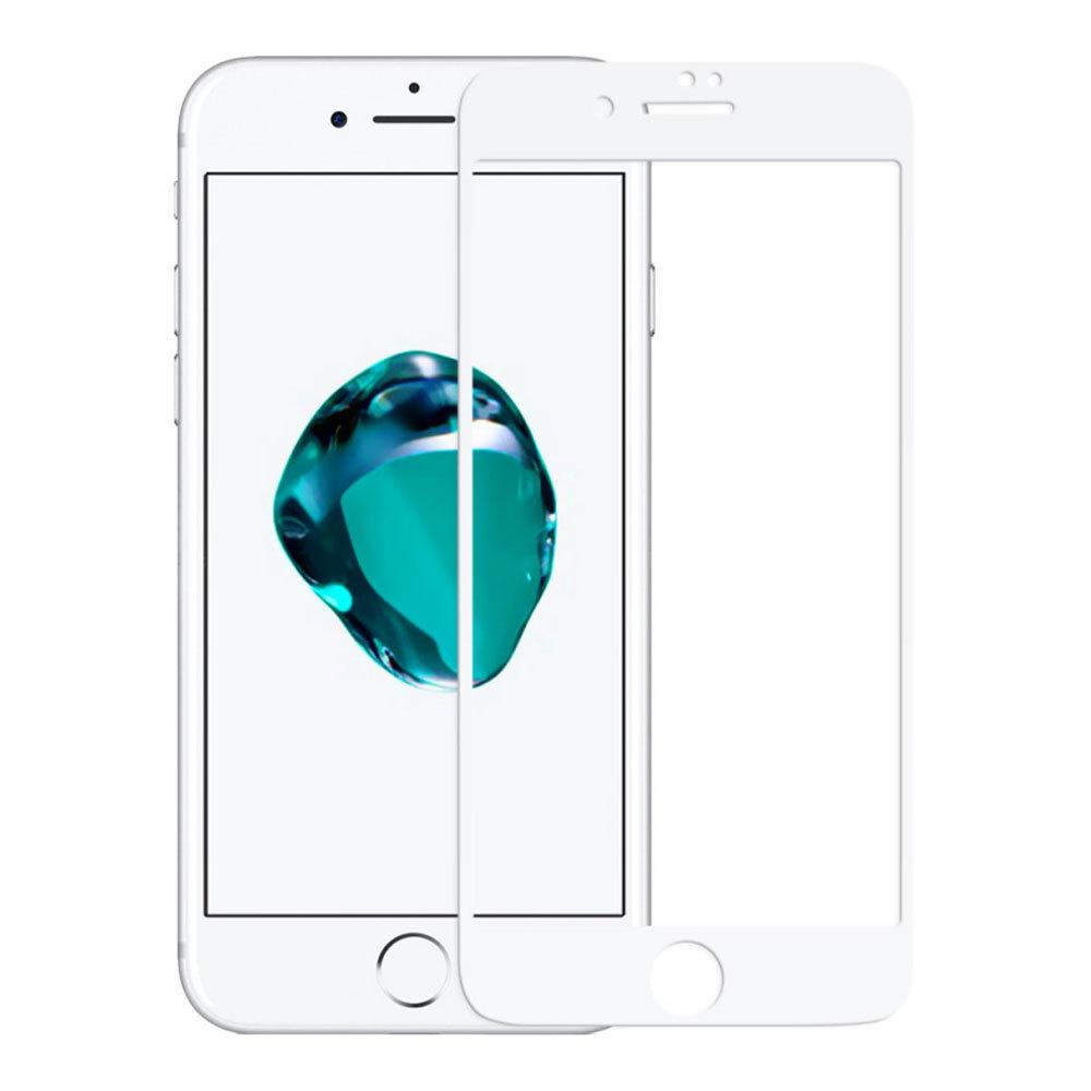 Защитное стекло для iPhone 7/8, full screen 5D белое