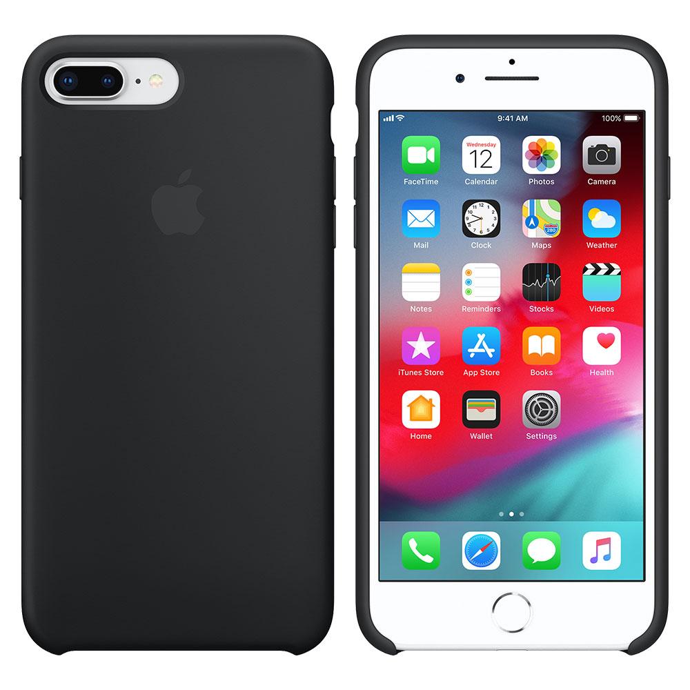 Силиконовый чехол для iPhone 7 Plus/8 Plus, чёрный