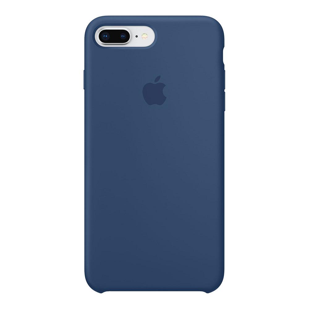 Силиконовый чехол для iPhone 7 Plus/8 Plus, тёмно-синий