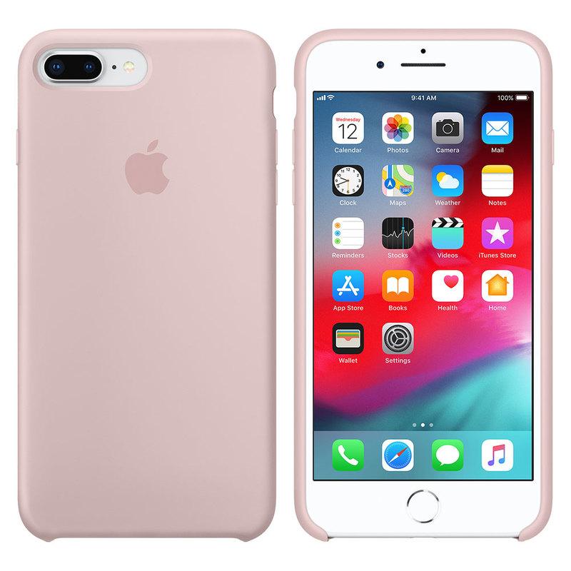 Силиконовый чехол для iPhone 7 Plus/8 Plus, розовый песок
