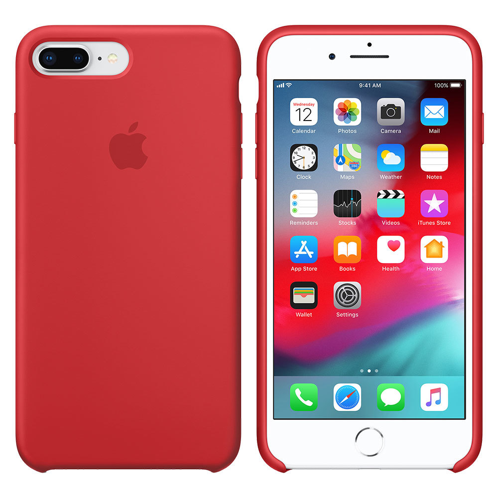 Силиконовый чехол для iPhone 7 Plus/8 Plus, красный