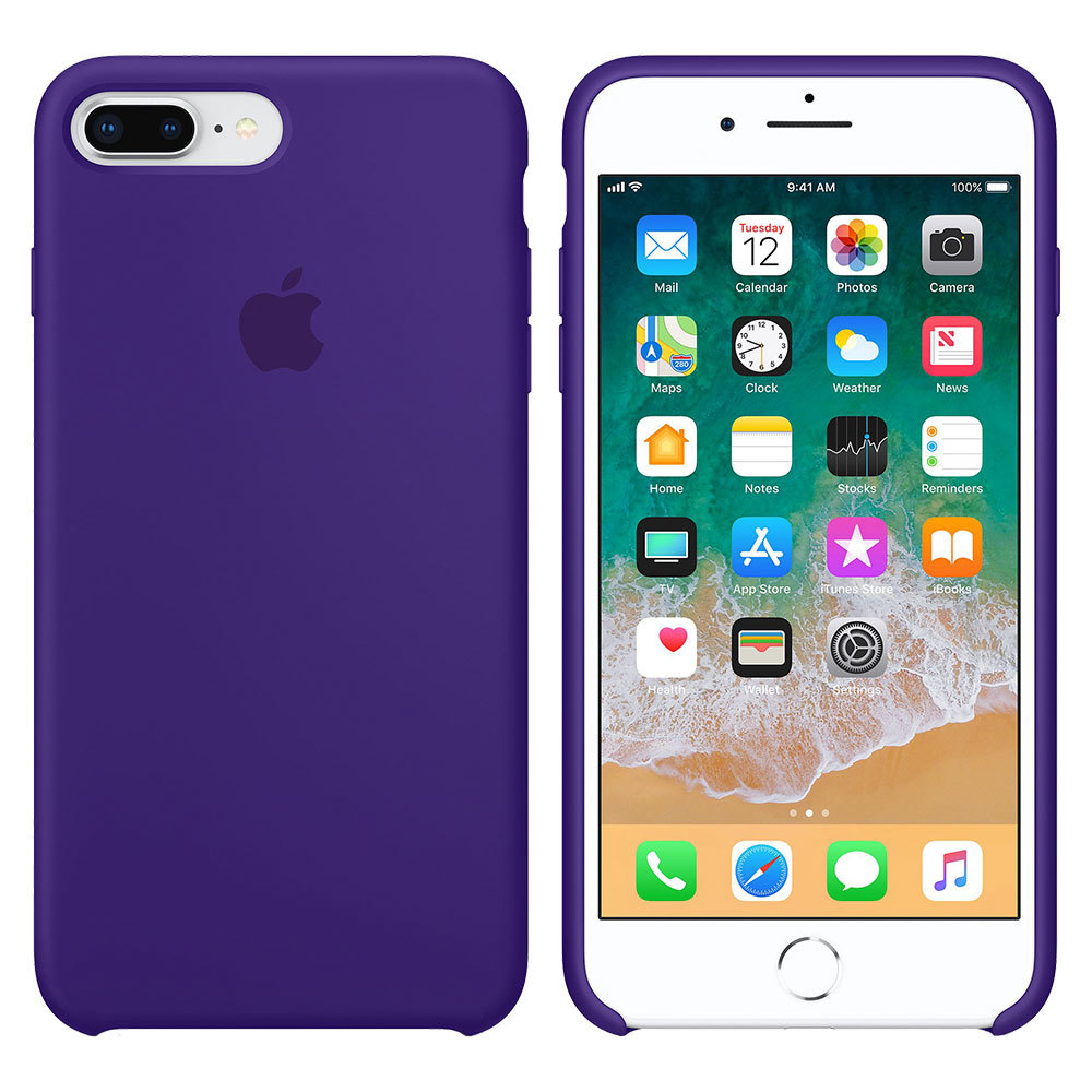 Силиконовый чехол для iPhone 7 Plus/8 Plus, фиолетовый