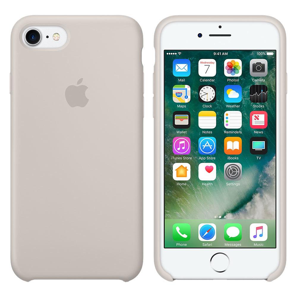 Силиконовый чехол для iPhone 7/8/SE, бежевый