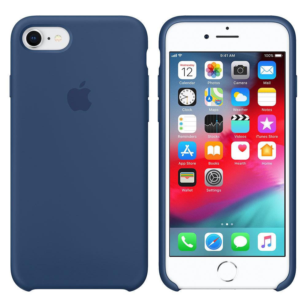 Силиконовый чехол для iPhone 7/8, тёмно-синий