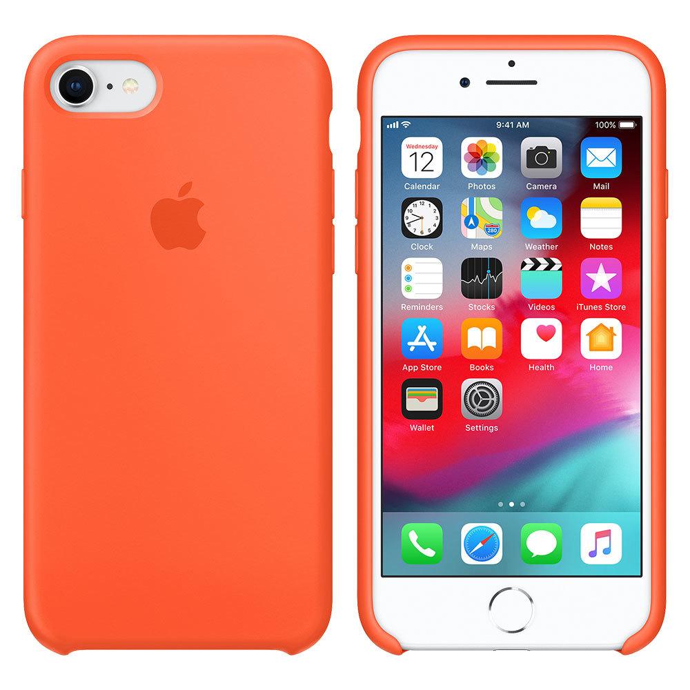Силиконовый чехол для iPhone 7/8, оранжевый