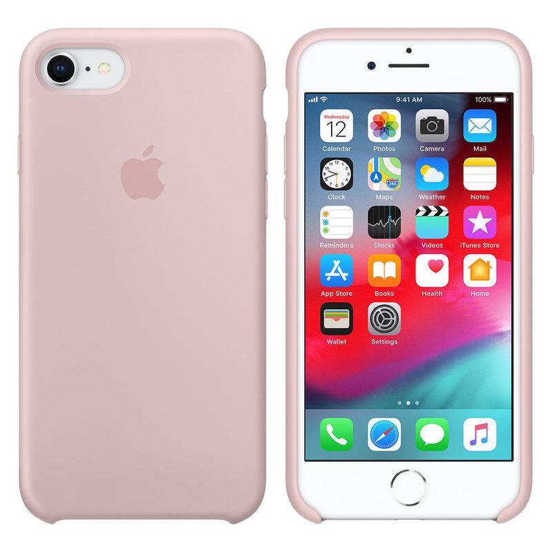 Силиконовый чехол для iPhone 7/8, розовый песок