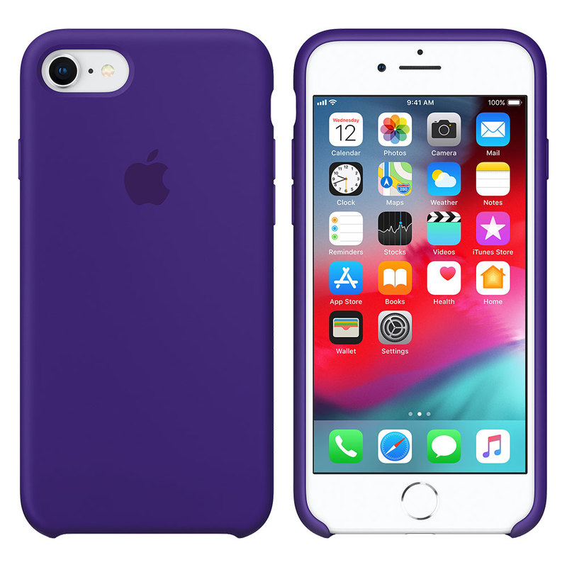 Силиконовый чехол для iPhone 7/8, фиолетовый