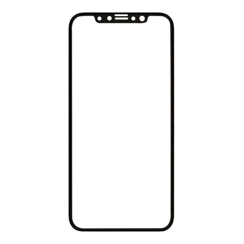 Защитное стекло для iPhone X/Xs, full screen 5D чёрное