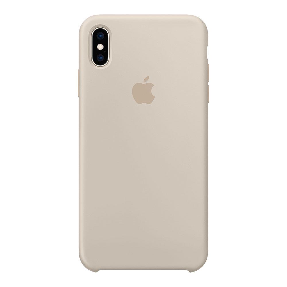 Силиконовый чехол для iPhone Xs Max, бежевый