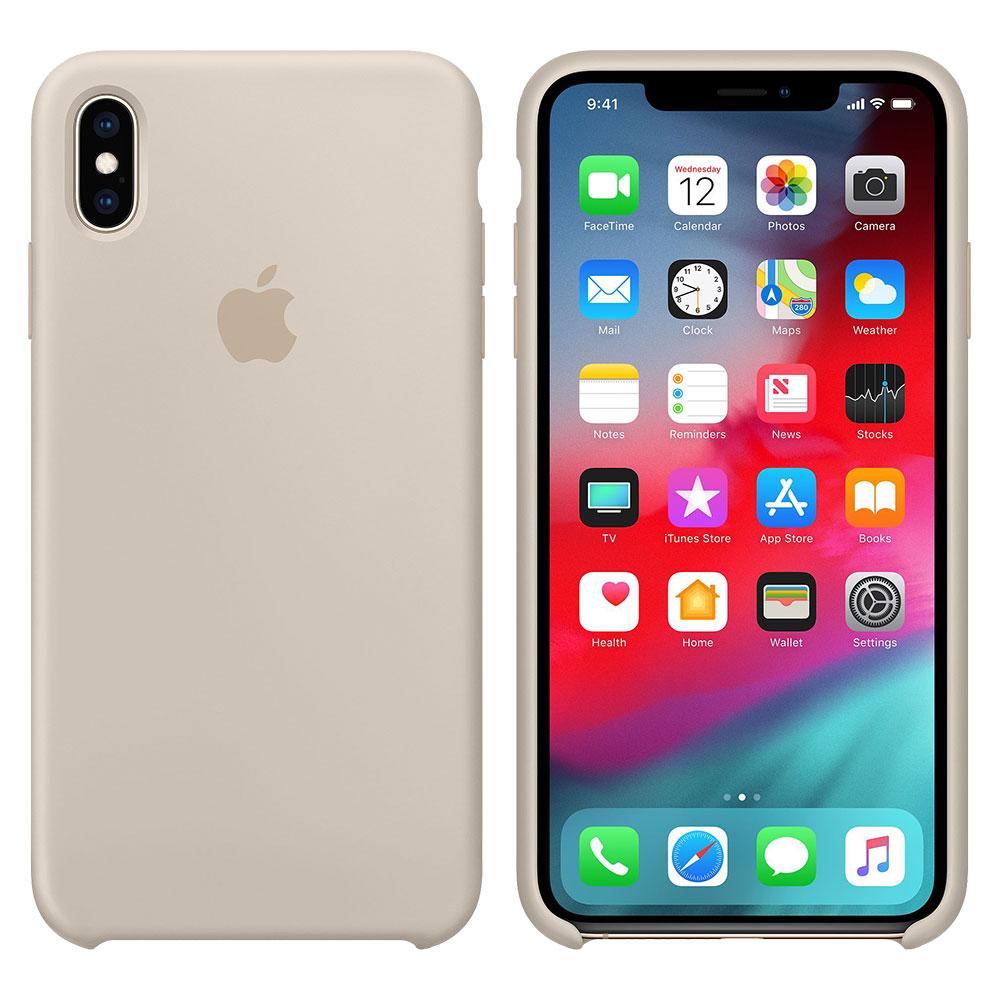 Силиконовый чехол для iPhone X/Xs, бежевый