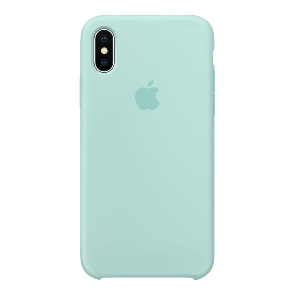 Силиконовый чехол для iPhone Xs Max, мятный