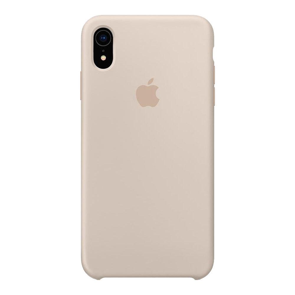 Силиконовый чехол для iPhone Xr, бежевый
