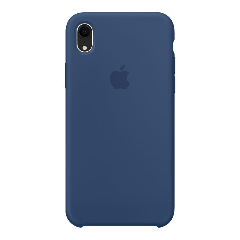 Силиконовый чехол для iPhone Xr, тёмно-синий