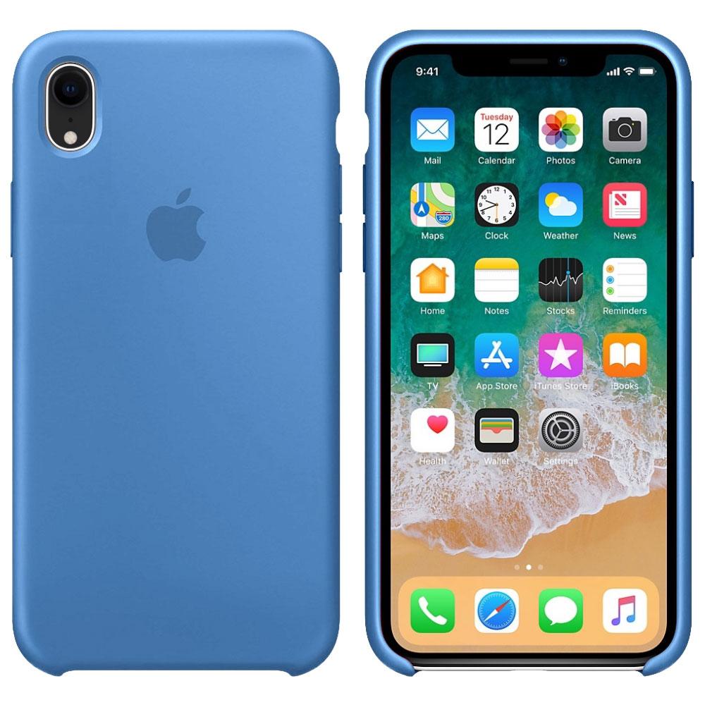Силиконовый чехол для iPhone Xr, синий деним