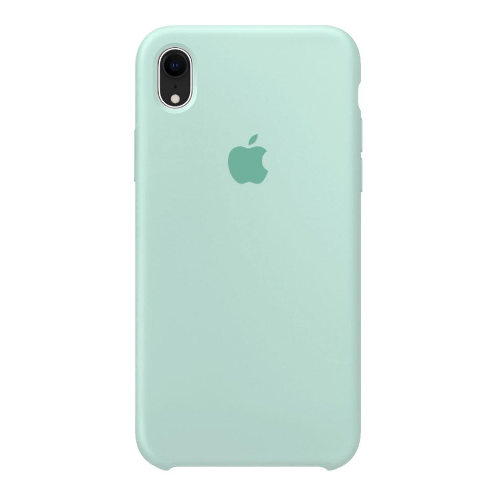 Силиконовый чехол для iPhone Xr, мятный