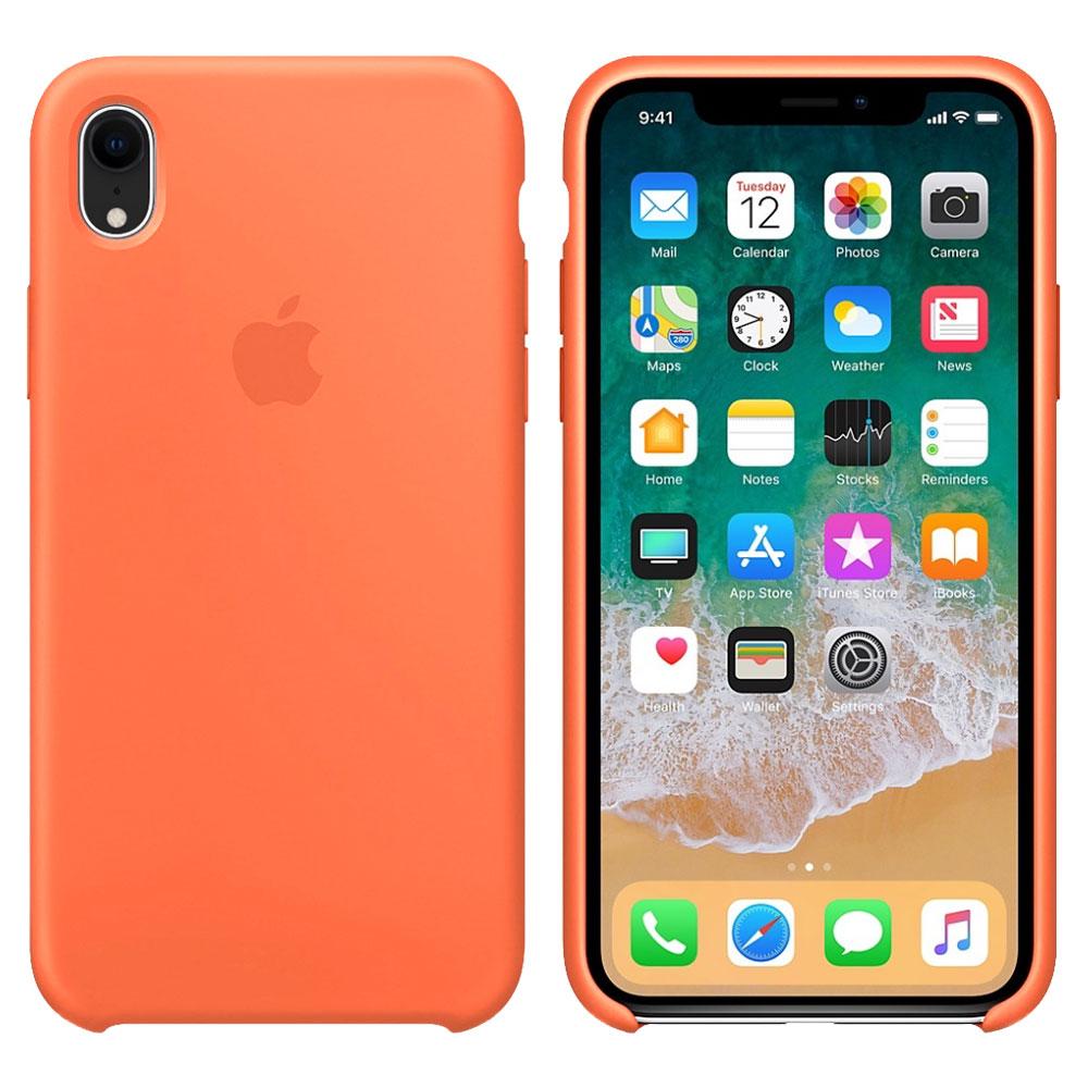 Силиконовый чехол для iPhone Xr, оранжевый