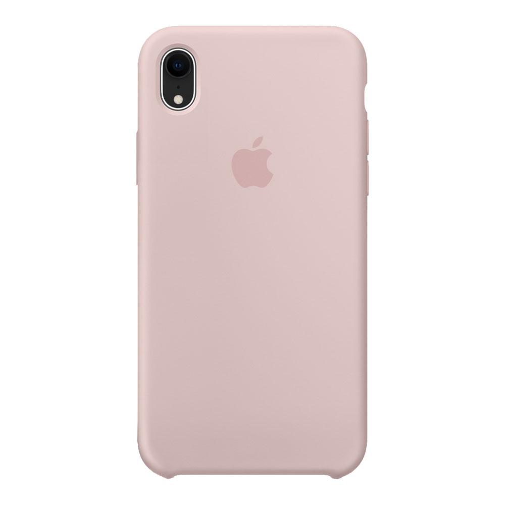 Силиконовый чехол для iPhone Xr, розовый песок