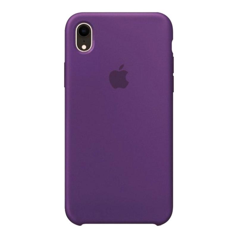 Силиконовый чехол для iPhone Xr, фиолетовый