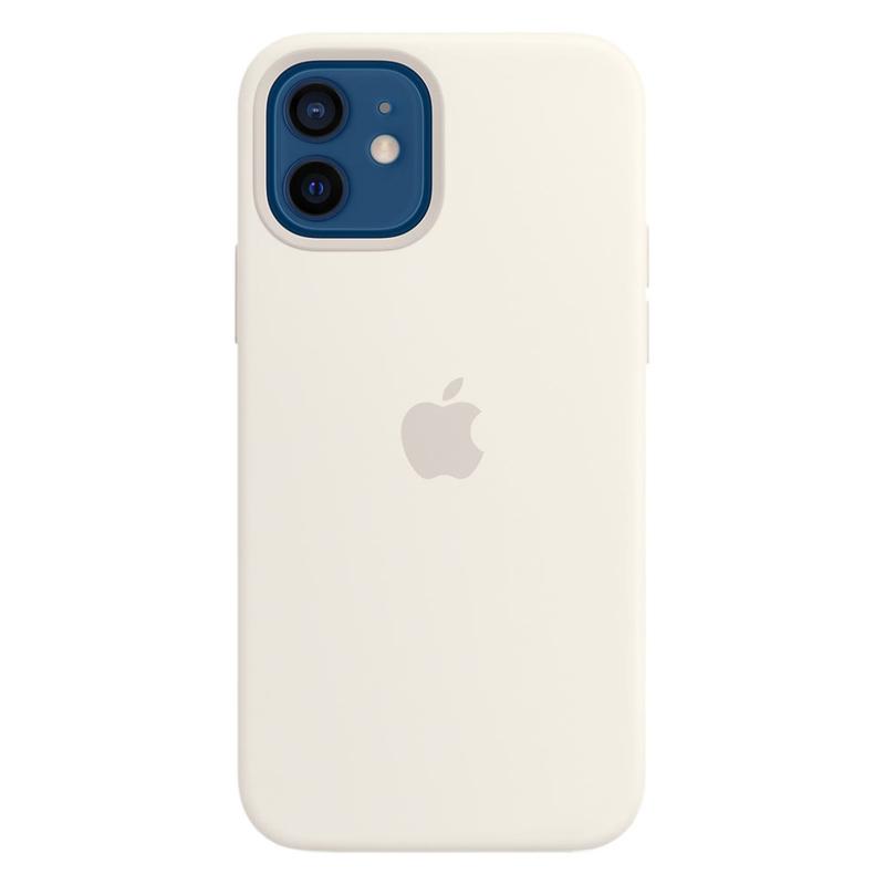 Силиконовый чехол Apple MagSafe для iPhone 12/12 Pro 2020 White