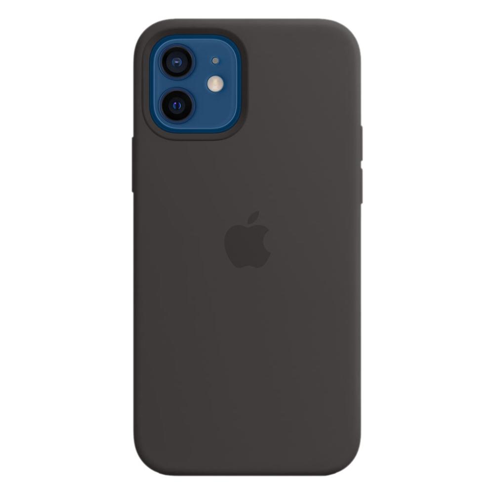 Силиконовый чехол Apple MagSafe для iPhone 12/12 Pro 2020 Black