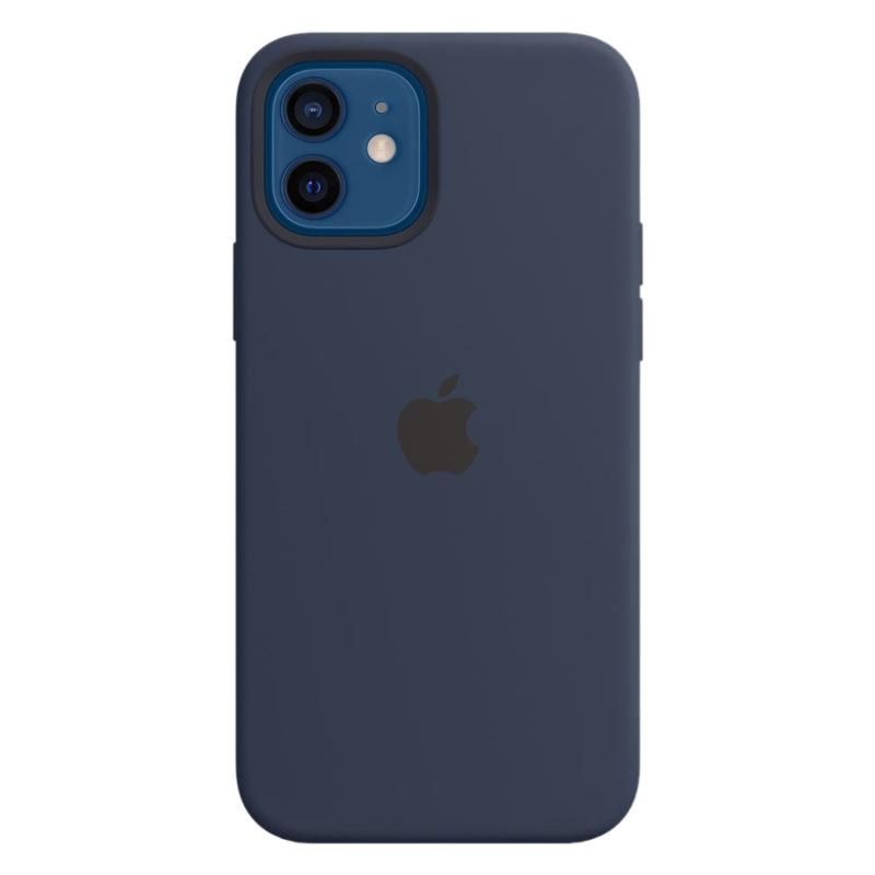 Силиконовый чехол Apple MagSafe для iPhone 12/12 Pro 2020 Deep Navy