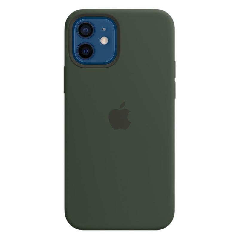 Силиконовый чехол Apple MagSafe для iPhone 12/12 Pro 2020 Cypress Green