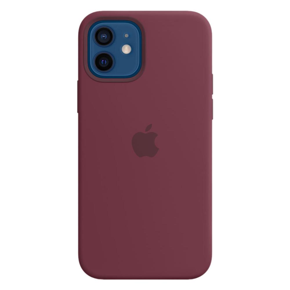 Силиконовый чехол Apple MagSafe для iPhone 12/12 Pro 2020 Plum