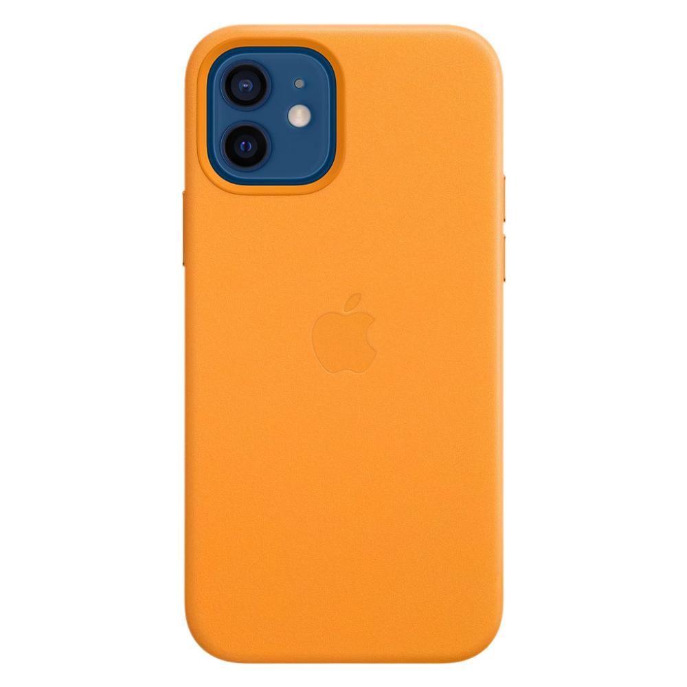 Кожаный чехол Leather MagSafe для iPhone 12/12 Pro 2020 California Poppy