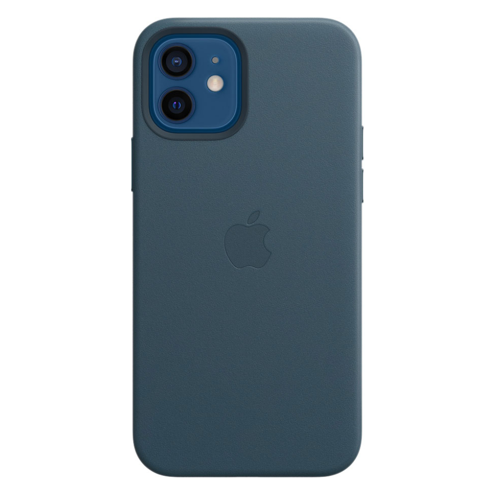 Кожаный чехол Leather MagSafe для iPhone 12/12 Pro 2020 Baltic Blue