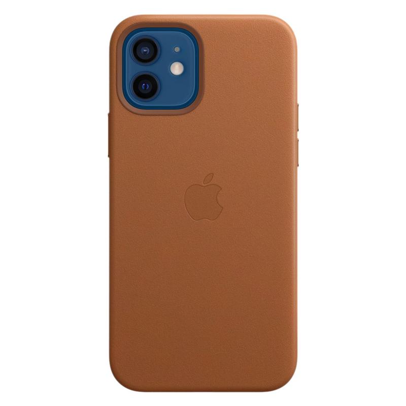 Кожаный чехол Leather MagSafe для iPhone 12/12 Pro 2020 Saddle Brown